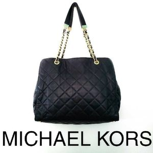 Michael Kors Quilted Leather Gold Chain Tote
